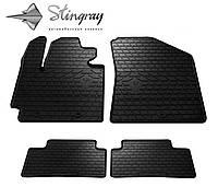 Резиновые коврики Stingray Стингрей KIA Soul 2013- Комплект из 4-х ковриков Черный в салон. Доставка по всей Украине. Оплата при получении