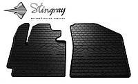 Резиновые коврики Stingray Стингрей КИА Соул 2013- Комплект из 2-х ковриков Черный в салон. Доставка по всей Украине. Оплата при получении
