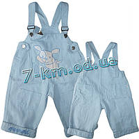 Комбинезон для мальчиков PaHax05 джинс 4 шт (2-5 лет)
