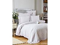 Набор постельное белье с покрывалом Karaca Home - Liza 2017-2 lila евро