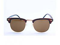 Модные солнцезащитные очки Ray Ban Clubmaster. Высокое качество. Удобные очки. Унисекс. Купить. Код: КДН1680