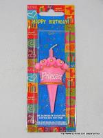 """Свеча на день рождения для девочек """"Корона принцессы"""""""