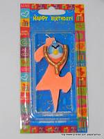 """Свеча на торт детская """"Angry Birds"""" цифра """"2"""" оранжевая"""