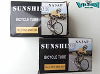"Камера велосипедная 18""х1.75/1.95/2.125 ""Sunshine"" (AV 34мм.)"