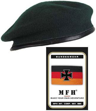 Берет пограничника р.58 зелёный MFH 10104B