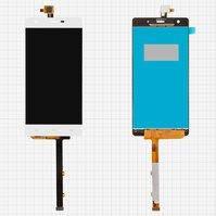 Дисплей для мобильного телефона Nomi i506 Shine, белый, с сенсорным экраном, original, #15-32302-53231/DJN-48-12050-1356A-00