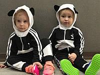 """Детский модный черно-белый костюм """"Adidas"""", фото 1"""