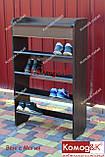 Обувница с ящиком на 4 полки.Цвет Венге Магия, фото 3