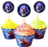 Набор для капкейков Спайдермен Человек - Паук