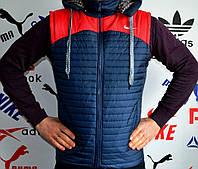 Жилетки Nike, мужские с прямым пошивом
