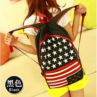 """Стильный городской рюкзак """"Американский флаг"""" 450.0, Взрослая, 42.0, 13.0, 5.0, 20.0, Унисекс, Китай, Городской, черный, 30.0"""