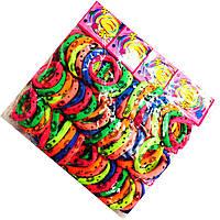 Резинки для волос цветные с рисунком 72 шт. в упаковке (диаметр 5см)