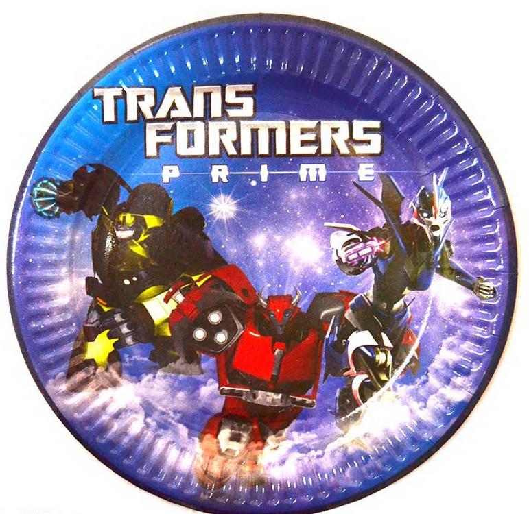 Тарелка праздничная Трансформеры