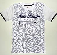 """Подростковые футболки на мальчиков """"New denim"""" оптом 8,9,10,11,12 лет 100 % хлопок (Турция)"""