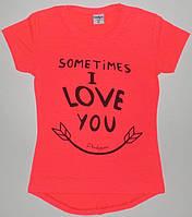 """Туники для девочек """"Sometimes i love you""""  8,9,10,11,12 лет"""