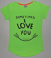 """Туники для девочек""""Sometimes i love you""""  8,9,10,11,12 лет"""
