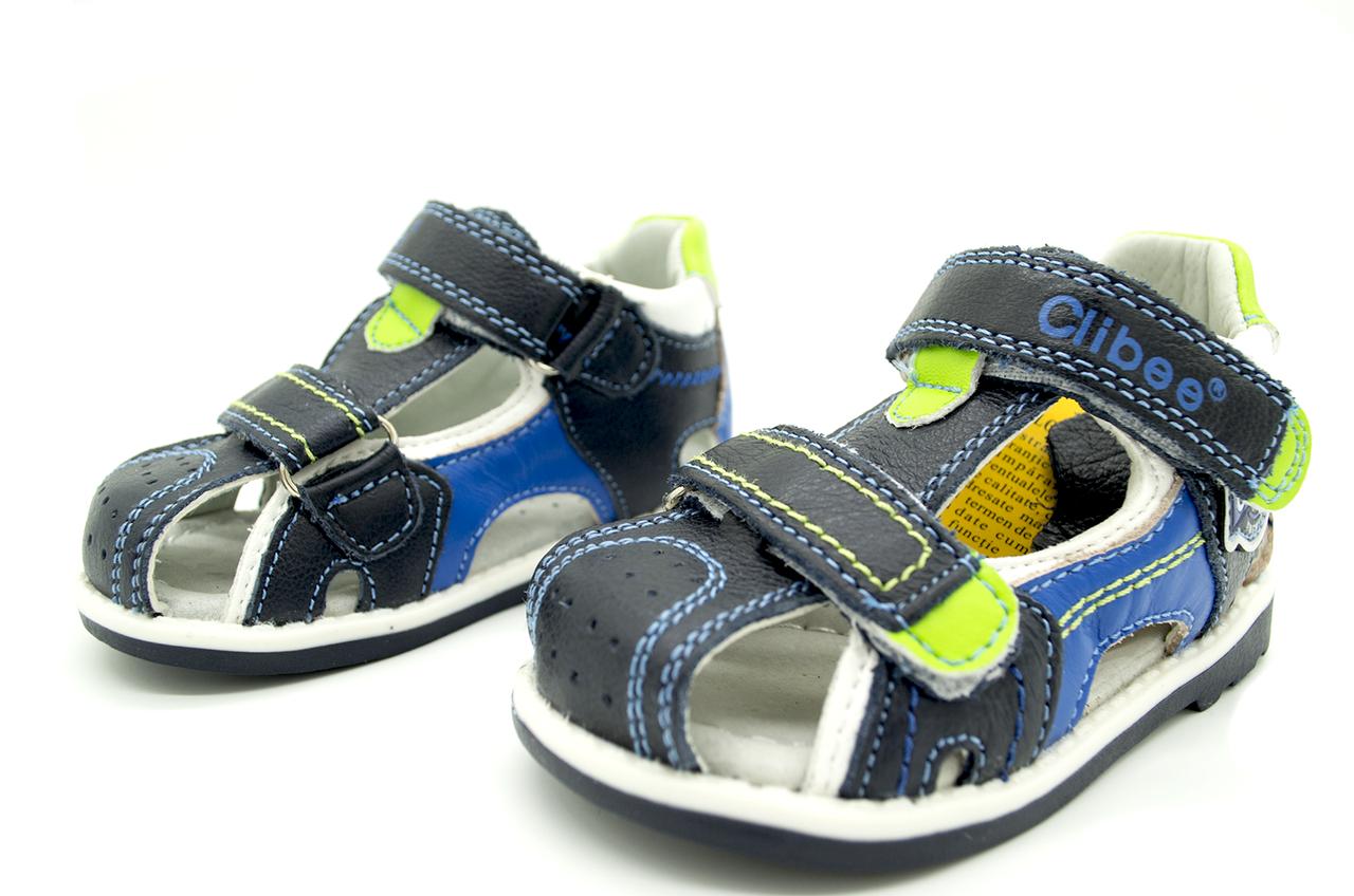 Кожаные детские сандали Clibee  20 размер-12 см;