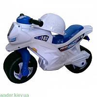 Мотоцикл 2-х колесный, белый, с каской, немуз., в пак. 65*46см, ТМ Орион, произв-во Украина
