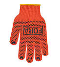 Рабочие перчатки ХБ с ПВХ 10 класс Doloni FORA 15100 (15300), фото 2