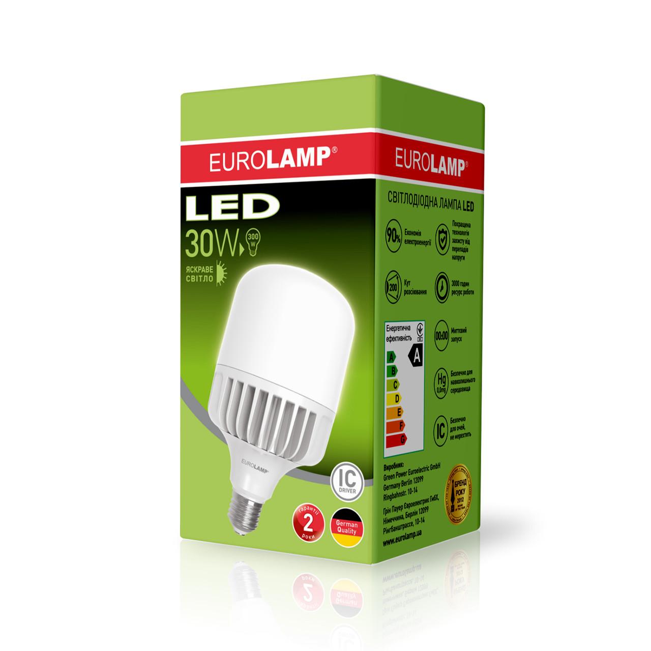 Высокомощная led-лампа Eurolamp LED 50W E40 5200Lm RA85 (LED-HP-50406)