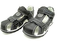 Кожаные сандали с орто стелькой для мальчиков фирмы Clibee