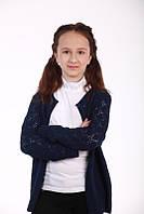 Ажурний Жакет рукав, синій, фото 1
