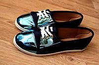 """Мокасинки """"BLY"""".  Плотный обувной текстиль."""