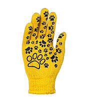 Рабочие перчатки для детей трикотажные с ПВХ 10 класс Doloni Киттислед 4122 (669)