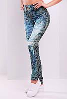 Молодежные женские лосины Джинсы хаки Glem 44-48 размеры