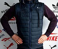 Жилетка мужская Nike, однотонная, прямой пошив