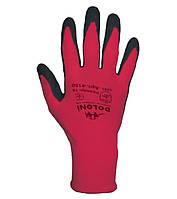 Рабочие перчатки нейлоновые с латексным покрытием неполный облив Doloni 4150