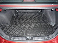 Резиновый коврик в багажник Hyundai Elantra 07-11 Lada Locer (Локер)