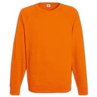 Оранжевый мужской свитшот (рукав-реглан)