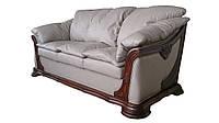 """Мягкий кожаный диван """"Ferenza"""" (Ференза) Трехместный (208 см), Американская раскладушка, ткань"""