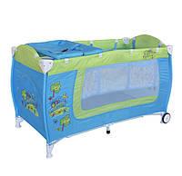 Манеж кровать Bertoni Danny 2 Blue Green Car