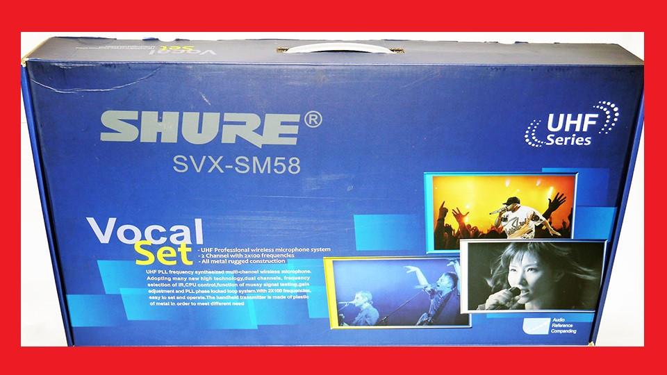 Радиосистема Shure SVX-SM58, 200 каналов, UHF  2 радиомикрофона