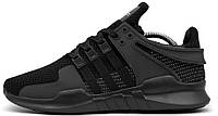 Мужские кроссовки Adidas Equipment Support ADV All Black Aдидас черные