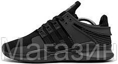 Мужские кроссовки Adidas Equipment Support ADV All Black Aдидас черные