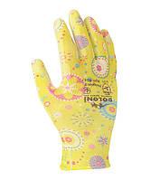 Рабочие перчатки трикотажные с полиуретановым покрытием неполный облив Doloni 4547