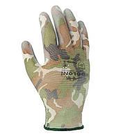Рабочие перчатки трикотажные с полиуретановым покрытием неполный облив Doloni 4551