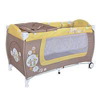 Манеж кровать Bertoni Danny 2 Beige Yellow Daise Bears
