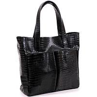 Женская кожаная сумка 02 HJ Черная