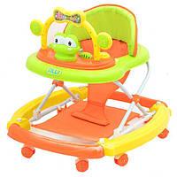 Детские ходунки-качалка Baby Tilly (T-433) Оранжевые