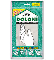Перчатки хозяйственные латексные без пудры Doloni 4559