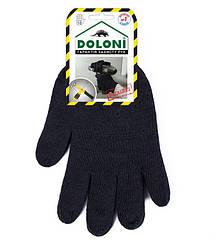Рабочие трикотажные перчатки термостойкие без ПВХ 7 класс Doloni 540