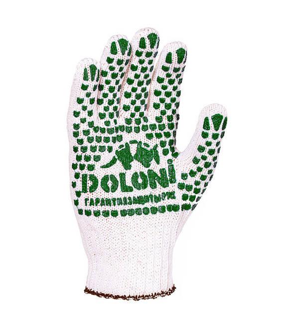 Перчатки рабочие трикотажные с рисунком ПВХ 7 класс Doloni 547
