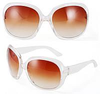 Очки солнцезащитные Chanel  ТОЛЬКО ОПТОМ ! прозрачная оправа, линзы коричневый градиент