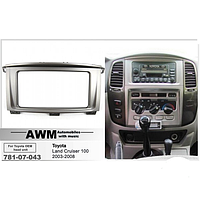 Рамка AWM 781-07-043 Toyota LC 100/Lexus LS 470 (со штатным дисплеем) 2DIN
