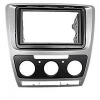 Рамка перехідна 11-185 Carav Skoda Octavia 08-13 (Manual Auto Air Cond) Grey
