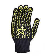 Рабочие строительные перчатки трикотажные с ПВХ 7 класс Doloni Звезда 562